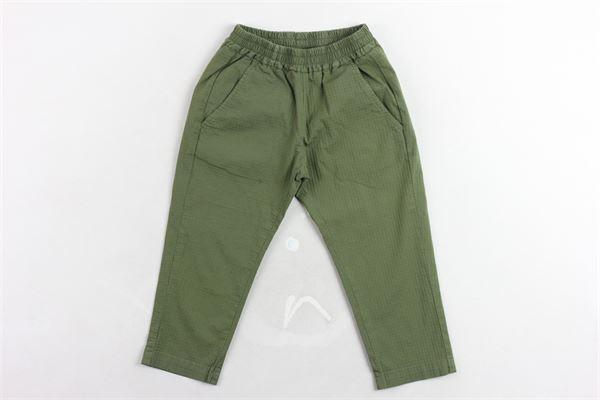 pantalone elastico in vita tinta unita microfantasia tasca americana BERWICH | Pantaloni | WMPA01VERDE MILITARE