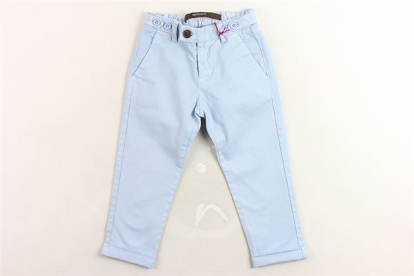 pantalone tinta unita elastico in vita tasca americana BERWICH | Pantaloni | WMPA05AZZURRO