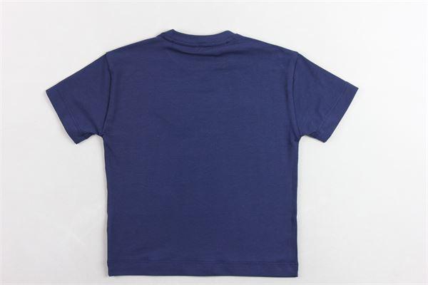 t-shirt mezza manica tinta unita con stampa logo BERWICH | T-shirts | WMTS01BLU