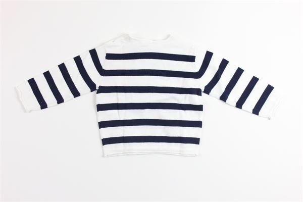 maglia 100%cotone con taschino fantasia a righe BIRBA | Maglie | 999667040097ZBIANCO/BLU