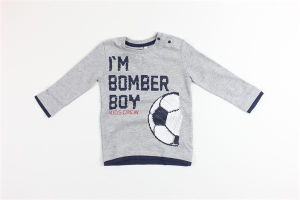shirt tinta unita con stampa BIRBA | Shirts | 999740130048DGRIGIO