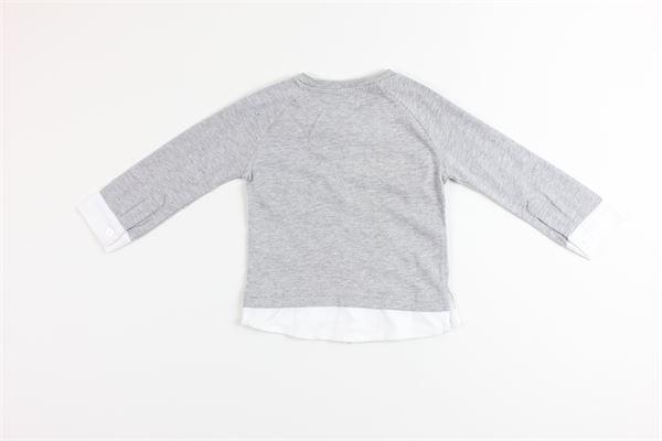 shirt tinta unita con stampa BIRBA | Shirts | 999740260048DGRIGIO