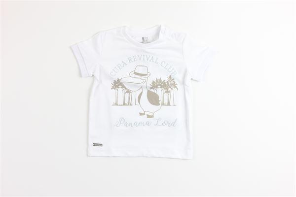 t-shirt mezza manica tinta unita con stampa BIRBA | T-shirts | 999840340010EBIANCO
