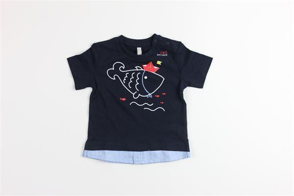 t-shirt tinta unita con stampa BIRBA | T-shirts | 999840520075FBLU