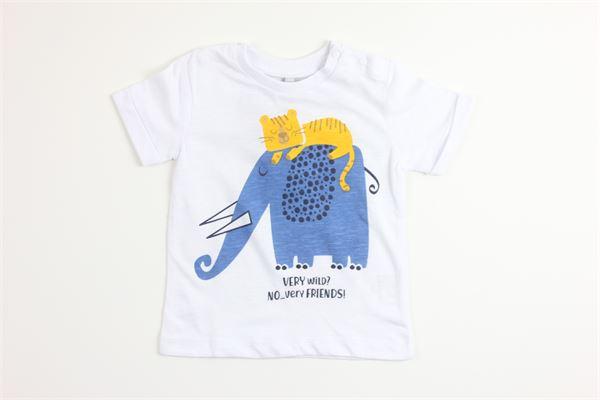 t-shirt mezza manica tinta unita con stampa BIRBA | T-shirts | 999840540011ABIANCO