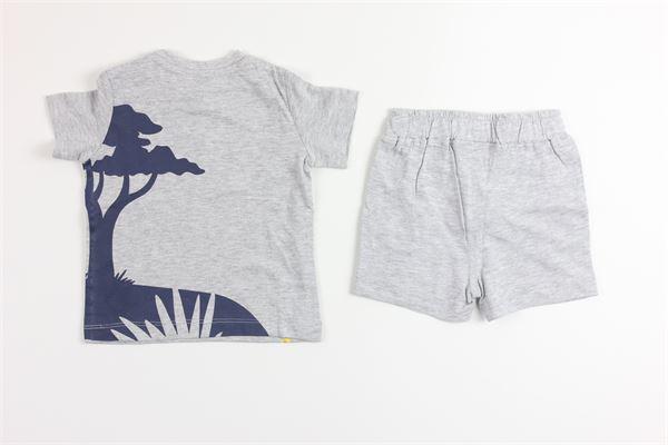 t-shirt mezza manica tinta unita con stampa e bermuda tinta unita BIRBA | Completi | 999840570043XGRIGIO