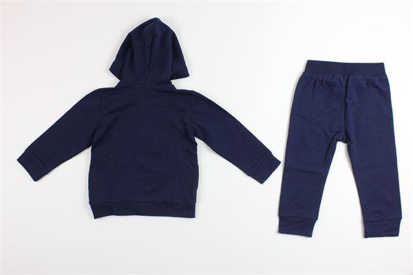 felpe tinta unita con stampa zip e cappuccio e pantalone tinta unita BIRBA | Completi | 9998908700075H18MBLU