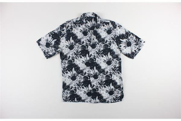 camicia mezza manica stampa fantasia 100%lino BLACK CIRCUS   Camicie   BOWL2BIANCO