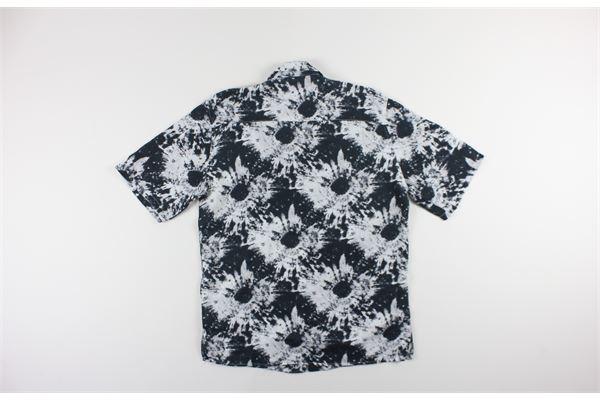 camicia mezza manica stampa fantasia 100%lino BLACK CIRCUS | Camicie | BOWL2BIANCO