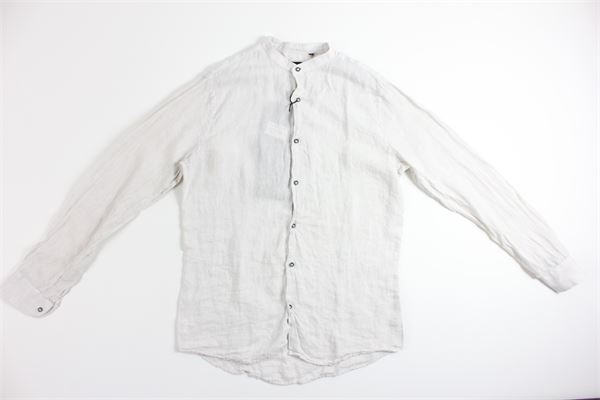 camicia tinta unita 100%lino BLACK CIRCUS | Camicie | CAU654EBEIGE