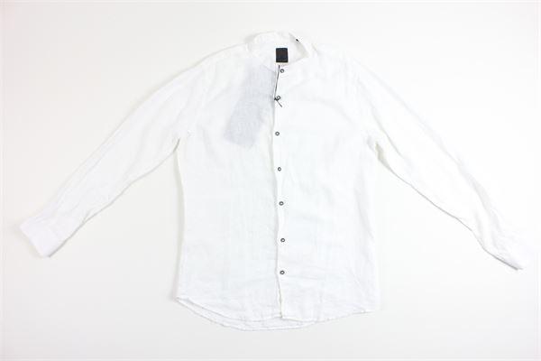 camicia tinta unita 100%lino BLACK CIRCUS | Camicie | CAU654EBIANCO