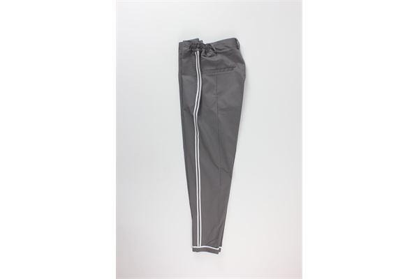 pantalone tinta unita con profili in contrasto BLACK CIRCUS   Pantaloni   PAU685MGRIGIO