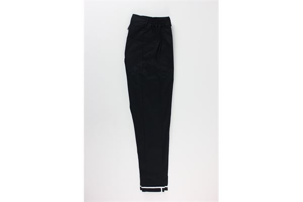 pantalone tinta unita con profili in contrasto BLACK CIRCUS | Pantaloni | PAU685MNERO