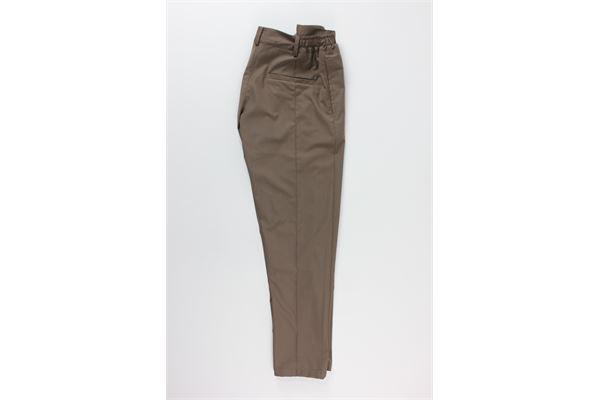 pantalone tinta unita con tasche a filo BLACK CIRCUS | Pantaloni | PAU702MMARRONE