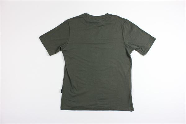 t-shirt mezza manica tinta unita BLACK CIRCUS | T-shirts | TS00182VERDE MILITARE