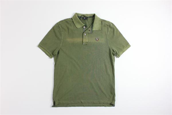 polo mezza manica tinta unita BLAUER | Polo | 20SBLUT02064VERDE MILITARE