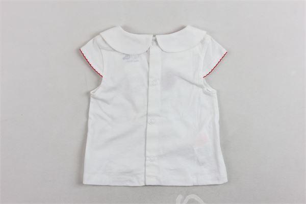 t-shirt mezza manica tinta unita con stampa BOBOLI | T-shirts | 139014BIANCO