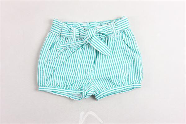 short in cotone elastico in riga fantasia rigata tasca americana BOBOLI | Shorts | 249061VERDE