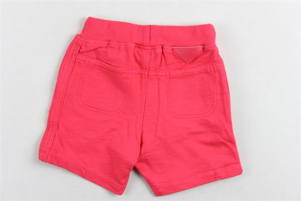 short tinta unita in cotone modello tuta con elastico in vita BOBOLI | Shorts | 319115FRAGOLA