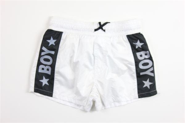 boxer tinta unita con stampa BOY LONDON | Costumi | BXBL021BIANCO