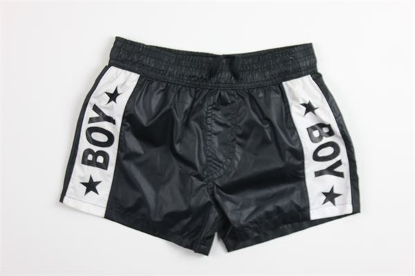 boxer tinta unita con stampa BOY LONDON | Costumi | BXBL021NERO