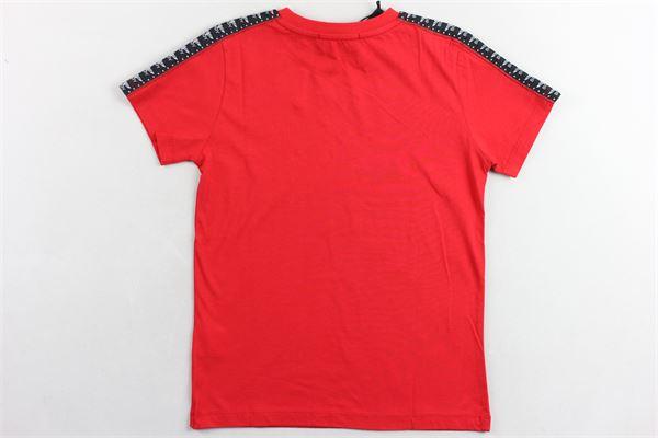 t-shirt tinta unita  con stampa BOY LONDON | T-shirts | TSBL2158JROSSO