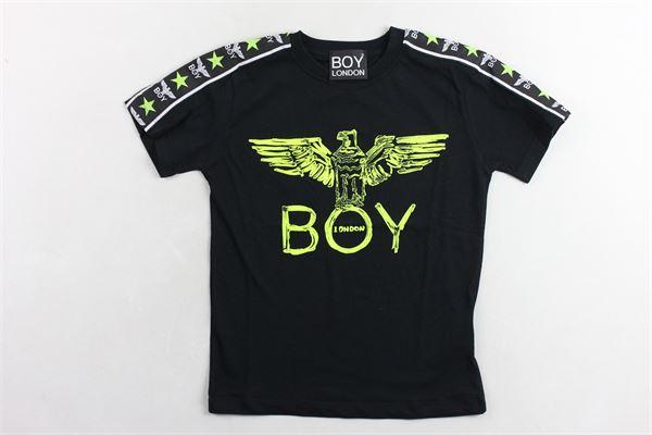 t-shirt tinta unita  con stampa BOY LONDON | T-shirts | TSBL2169JNERO