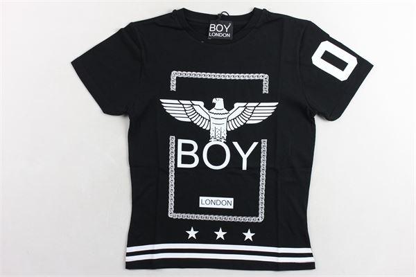 t-shirt tinta unita  con stampa BOY LONDON | T-shirts | TSBL9305JNERO