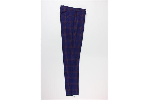 giacca tinta unita fantasia a quadri e pantalone tinta unita fantasia a quadri BRIAN DALES | Completi | JK4298BLU
