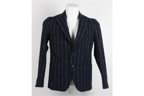 giacca tinta unita con microfantasia BRIAN DALES | Giacche | JK4314BLU