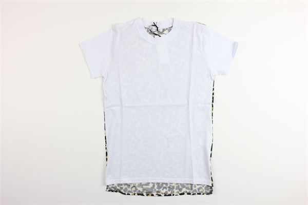 t-shirt mezza manica tinta unita con fantasia maculata BRIAN RUSH | T-shirts | BG060/20BIANCO