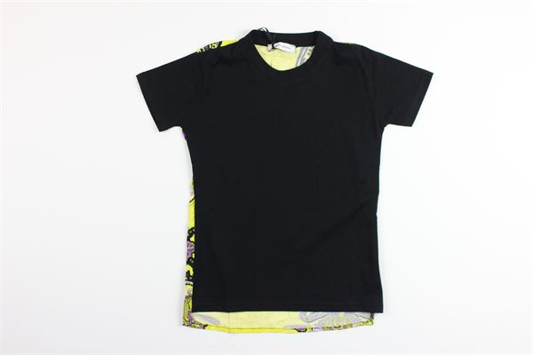 t-shirt mezza manica tinta unita con stampa fantasia BRIAN RUSH | T-shirts | BG071/20NERO