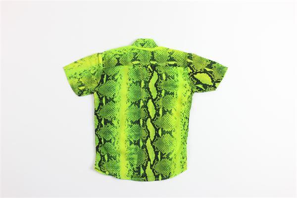 camicia mezza manica stampa fantasia pitone BRIAN RUSH | Camicie | CR096/20VERDE