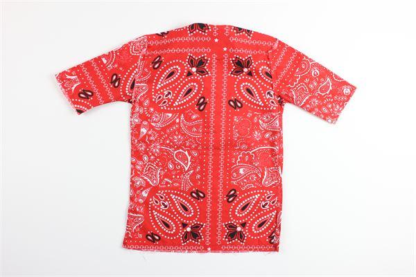 camicia mezza manica stampa fantasia BRIAN RUSH | Camicie | CR142/20ROSSO