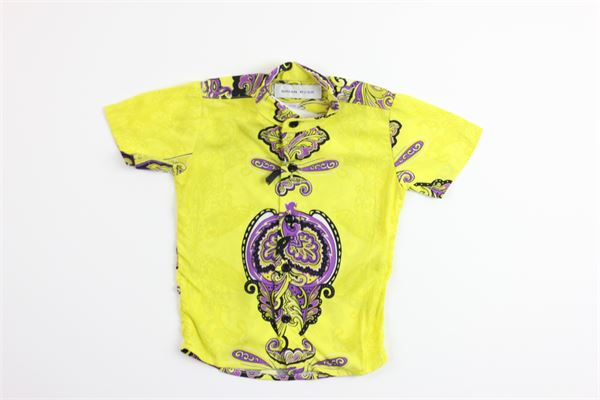 camicia mezza manica stampa fantasia BRIAN RUSH | Camicie | SC103/20GIALLO.