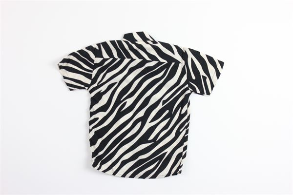camicia mezza manica stampa fantasia zebrata BRIAN RUSH | Camicie | SC108/20NERO