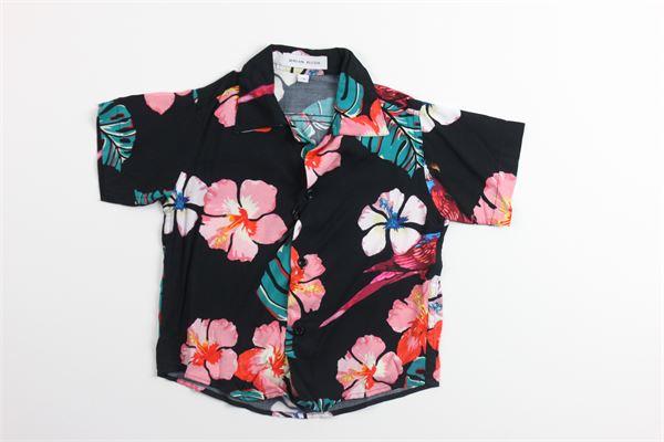 camicia mezza manica stampa fantasia BRIAN RUSH | Camicie | SC220NERO