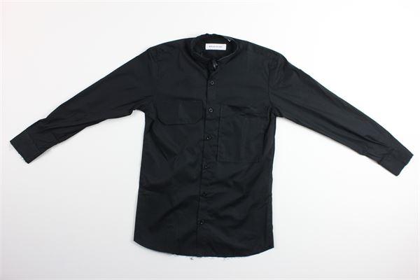 camicia manica lunga tinta unita con taschini BRIAN RUSH | Camicie | SC228NERO