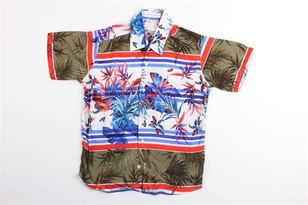 camicia mezza manica stampa fantasia BRIAN RUSH | Camicie | ST100MULTICOLOR