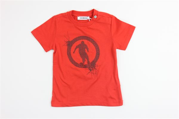 t-shirt mezza manica con stampa BiKKEMBERGS | T-shirts | TE60ROSSO