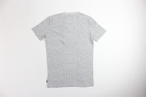t-shirt mezza manica tinta unita con stampa CARELABEL | T-shirts | TEE913GRIGIO