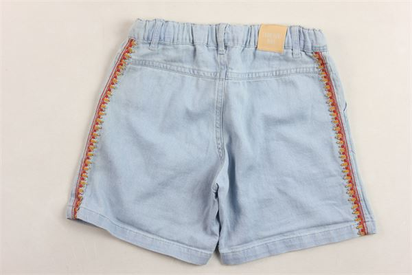 short modello denim girovita regolabile e profili in contrasto CARRE'MENT BEAU | Shorts | Y14125BLU