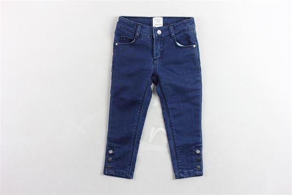 pantalone in denim girovita regolabile 5 tasche con applicazioni CARRE'MENT BEAU | Jeans | Y14135BLU