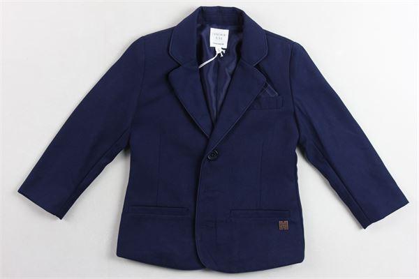 giacca  tinta unita con taschini e foulard CARRE'MENT BEAU | Giacche | Y26057BLU