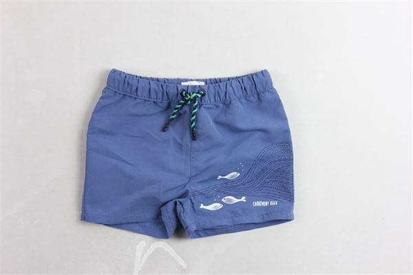 boxer tinta unita stampa pesci CARRE'MENT BEAU | Costumi | Y9009181ABLU