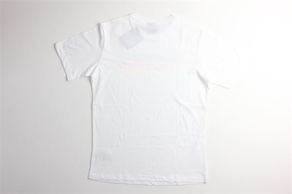 t-shirt tinta unita con stampa CHAMPION | T-shirts | 305196BIANCO