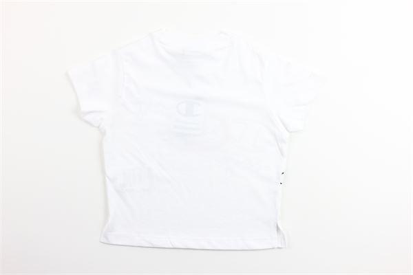 t-shirt mezza manica tinta unita con stampa CHAMPION | T-shirts | 403809BIANCO
