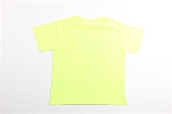 t-shirt tinta unita con stampa logo CHAMPION | T-shirts | 403836GIALLO FLUO