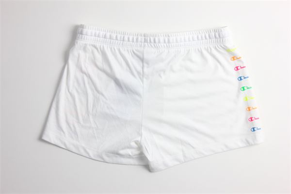short in felpa tinta unita cob stampa CHAMPION | Shorts | 403837BIANCO