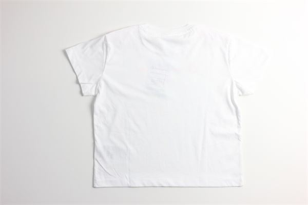 t-shirt tinta unita con stampa CHAMPION | T-shirts | 403895BIANCO